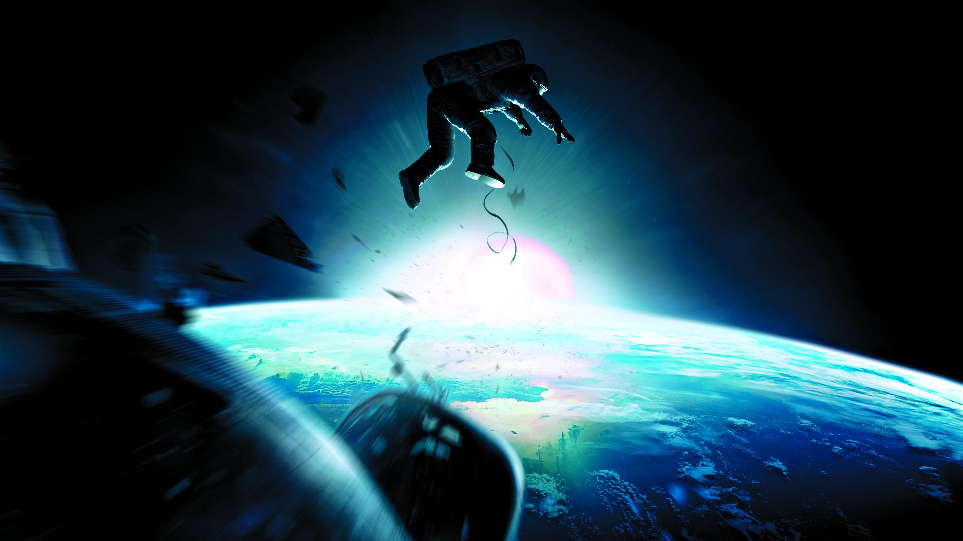 """O filme """"Gravity"""" mostra a dificuldade dos astronautas em lidar com os milhões de detritos no espaço"""